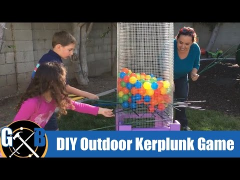 Make a DIY Outdoor Family Fun Kerplunk Lawn Game :: How To