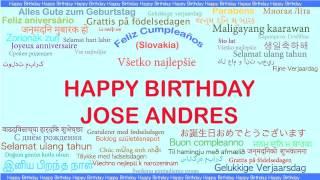 JoseAndres   Languages Idiomas - Happy Birthday