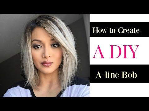 How to Create a DIY A-line Bob cut