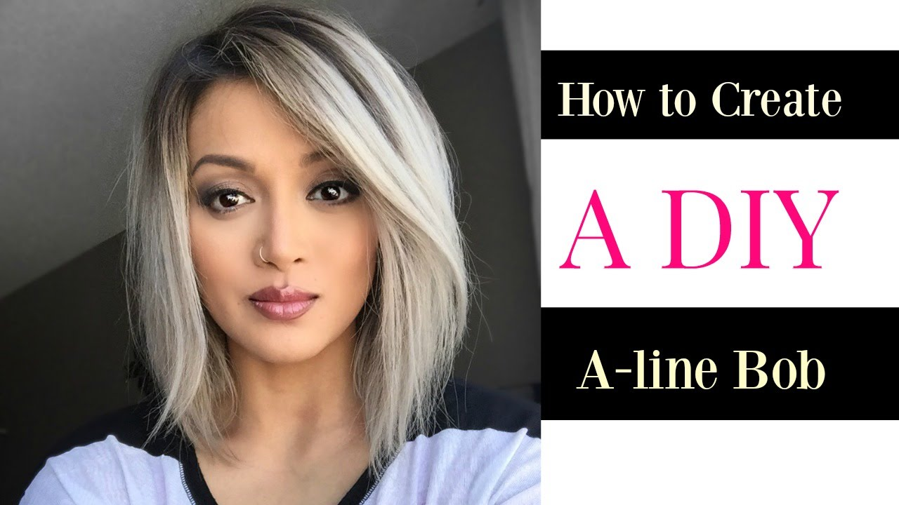 how to create a diy a-line bob cut