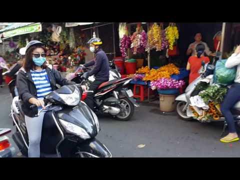 Chợ bán Hoa, Hồ Thị Kỷ,Sài Gòn,ngày 8.3.2017