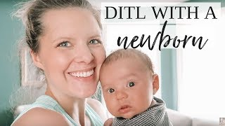 DAY IN THE LIFE WITH A NEWBORN   Vlog At Home With a 2 Month Old
