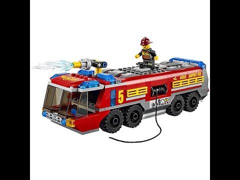 lego city cami n de bomberos aeroportuario lego juguetes para ni os youtube. Black Bedroom Furniture Sets. Home Design Ideas