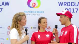 Ewa and Stas from Team Poland - The World Games 2017