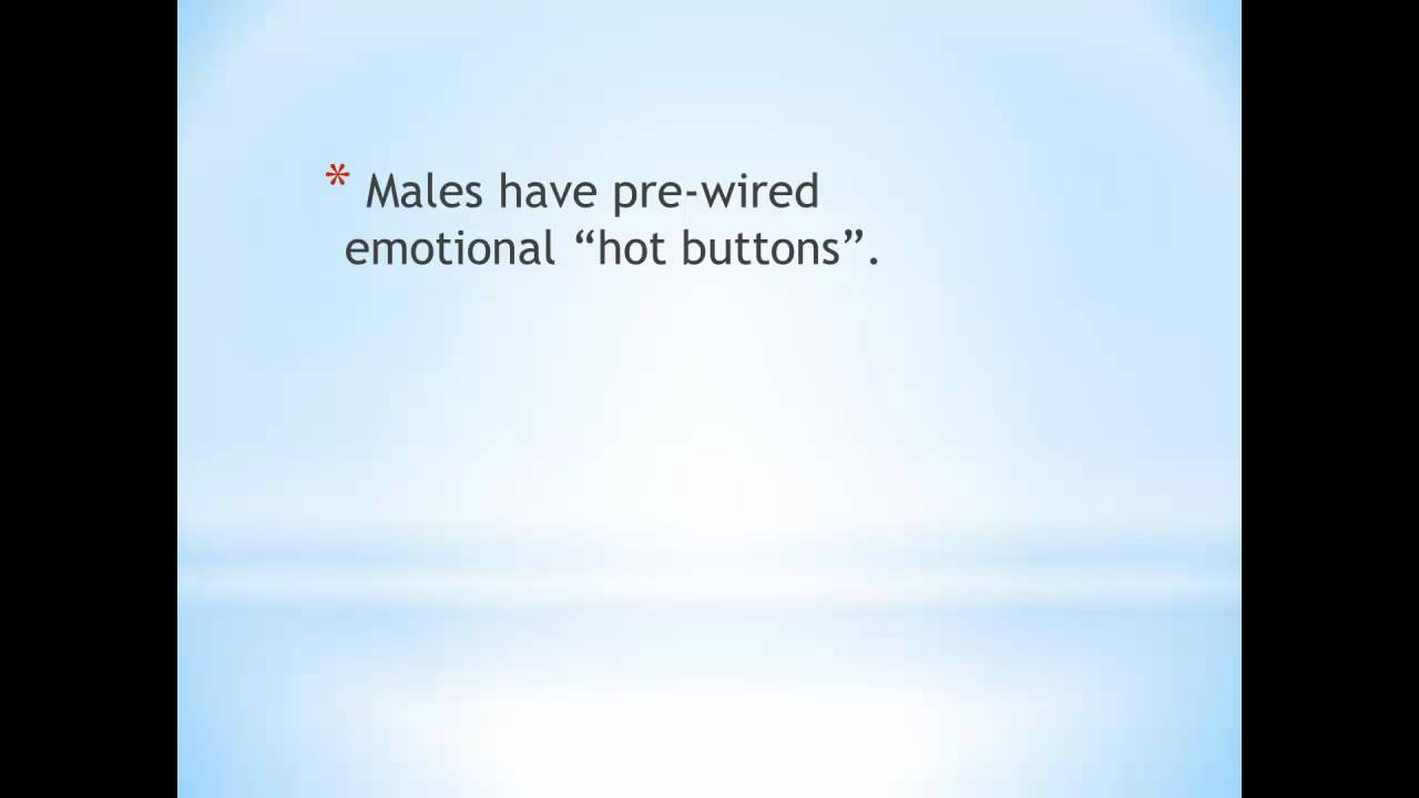 Male psychology emotional hot buttons