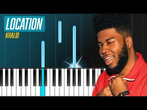 """Khalid - """"Location"""" Piano Tutorial - Chords - How To Play - Cover"""