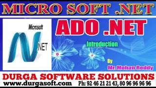 .NET||ADO.NET||Ado.Net Introduction by MohanReddy