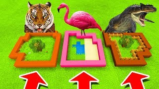 Minecraft PE : DO NOT CHOOSE THE WRONG FARM! (Tiger, Flamingo & Allosaurus)