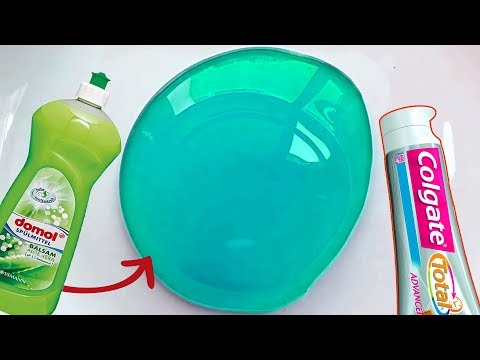 Dish Soap and Colgate Toothpaste Slime EASY How to Make Slime Soap Salt and Toothpaste, NO GLUE !!