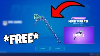How to Get The Minty Pickaxe FOR FREE (Anywhere)