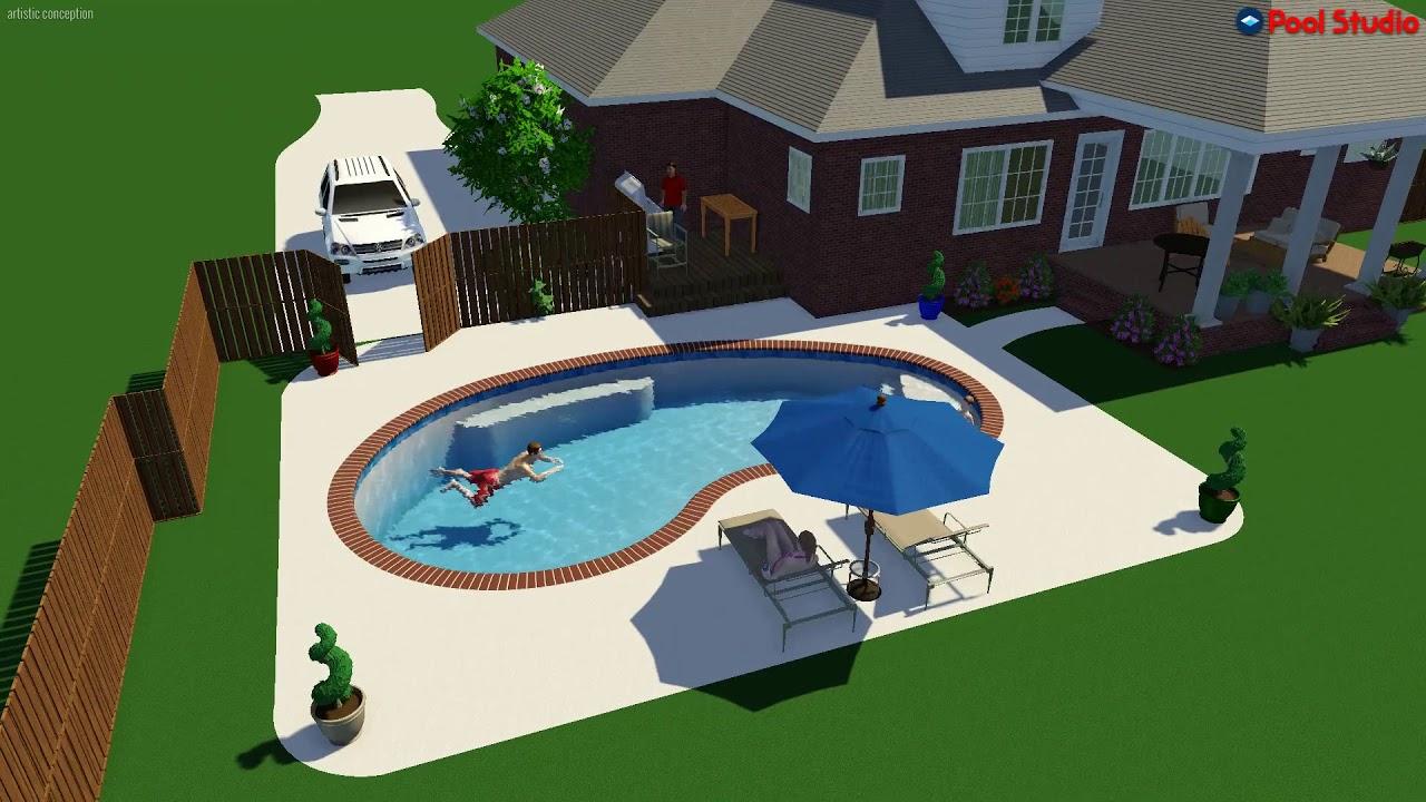 Copy of pool studio 3d swimming pool design software for Pool design software