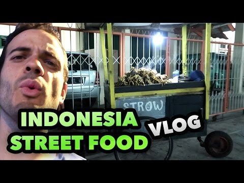 TRYING INDONESIA STREET FOOD - DAILY TRAVEL VLOG #41