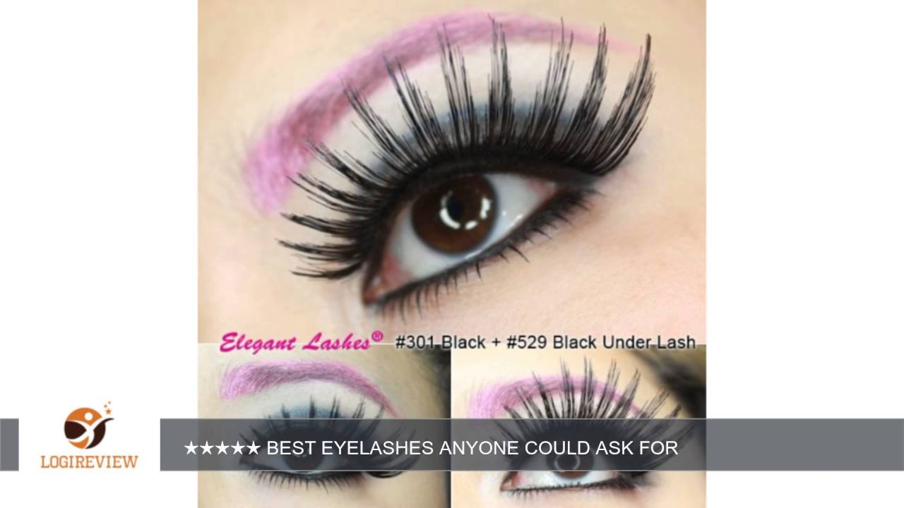 Elegant Lashes #301 Thick Long Black Human Hair False Eyelashes Drag Halloween Dance Rave Costume |  sc 1 st  YouTube : costume lashes  - Germanpascual.Com
