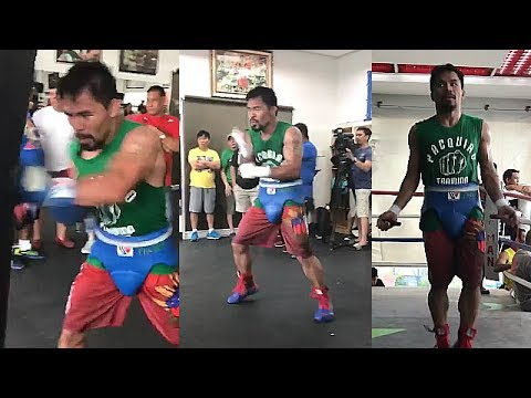 """MANNY PACQUIAO ON FIRE; READY TO LIGHT UP JEFF HORN WITH """"BOOM, BOOM, BOOM"""" COMBINATIONS"""