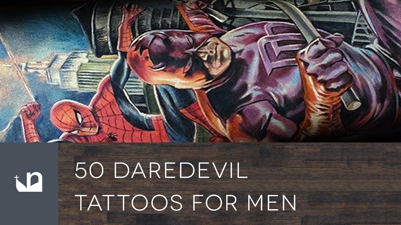 50 Daredevil Tattoo Designs For Men – Marvel Comic Ink Ideas