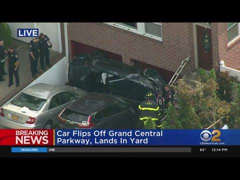 Car Lands In Queens Yard