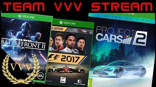 Xbox One X Project Cars 2 F1 2017 and Star Wars Battlefront 2