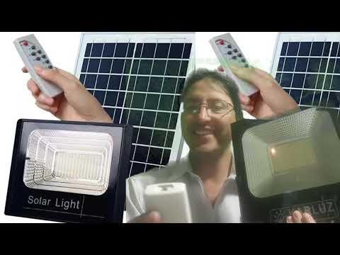 Sabe como funciona aun reflector solar LED automatizado ? 100w