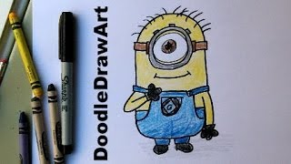 How To Draw A Minion (Despicable Me)   Subscriber Request Easy Drawing Lesson