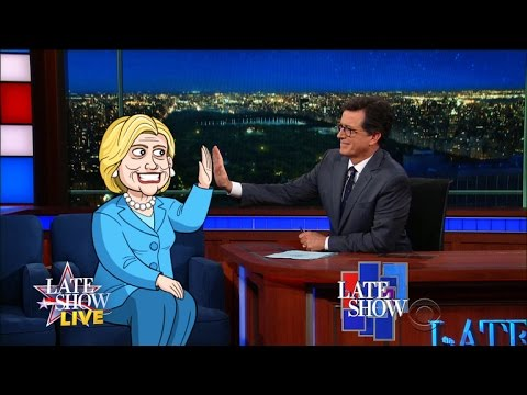 Cartoon Hillary Clinton Answers Questions From Republicans