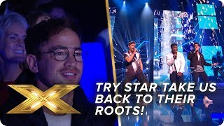 Try Star take it back to their roots with RE-WORKED 'No Diggity'   Live Week 3   X Factor: Celebrity