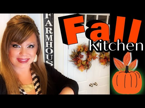 FALL 🍁 KITCHEN DECORATE WITH ME! FARMHOUSE/TUSCAN STYLE! (PART 1)