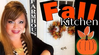 FALL � KITCHEN DECORATE WITH ME! FARMHOUSE/TUSCAN STYLE! (PART 1)