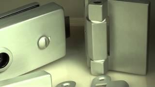 Фурнитура для стеклянных дверей анодированный алюминий