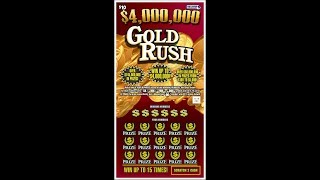 $10 -GOLD RUSH - BIG MULTIPLIER WIN! Massachusetts Lottery Bengal Scratch Off instant tickets WIN!