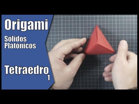 Tetraedro em Origami