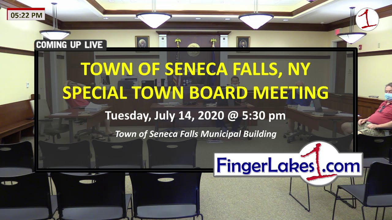 WATCH LIVE: Town of Seneca Falls Special Board Meeting on 7 (video)
