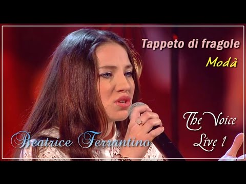 The Voice of Italy 2016 - Live 1 | Beatrice Ferrantino, Tappeto di fragole, Modà