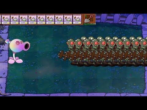 Plants vs Zombies Hypno-shroom vs Snow Peashooter vs Gargantuar