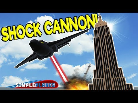 SHOCK CANNON VS EMPIRE STATE BUILDING! -  Simple Planes Creations Gameplay - Best Creations