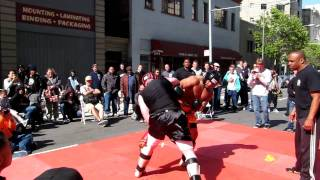 Muay Thai during Asian Festival in San Francisco. May 2011