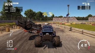 Wreckfest - Bugzilla at Bonebreaker Valley Gameplay [Modified Monsters Car Pack]