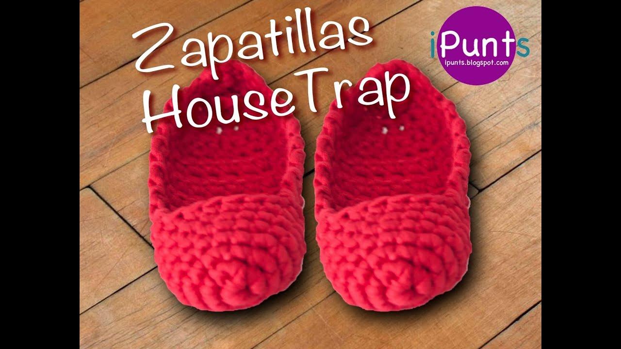 Tutorial zapatillas housetrap de trapillo paso a paso - Como hacer trapillo ...
