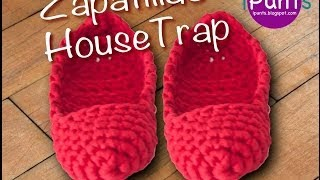 Tutorial Zapatillas Housetrap de trapillo paso a paso