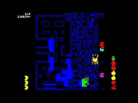 ZX Spectrum Pac-man Emulator Split Screen