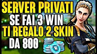 🔴Live fortnite ita IF YOU WIN 3 GAMES ON PRIVATE SERVERS I'LL GIVE YOU 2 SKINS TO THE COUPLE
