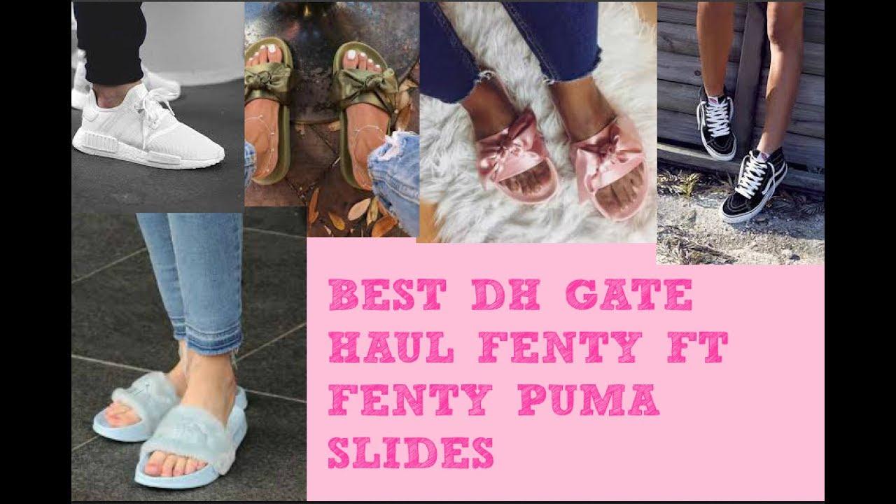 AliExpress/DH gate shoe haul puma slides etc..