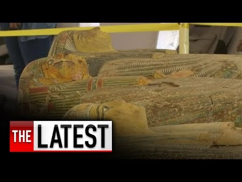 Thirty ancient coffins with mummies uncovered in Egypt | 7NEWS