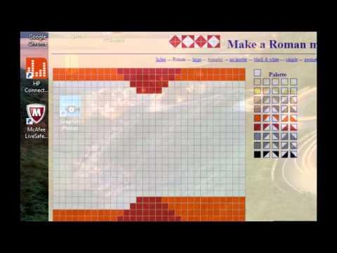 making a roman mosaic