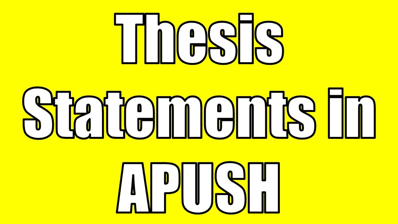 youtube how to write a thesis statement