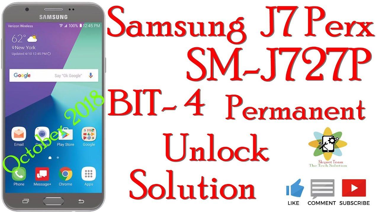 Samsung SM-J727P U4 Bit4 Network Permanent Unlock Done By Skynet Team