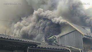 В тульском Заречье крупный пожар