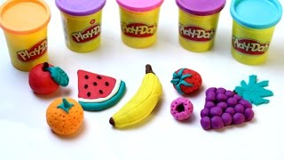 PLAY DOH FRUITS How to Make Fruits with Play Doh