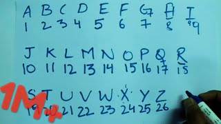 Alphabet & Number Remembering Trick !!! | HackMyMind