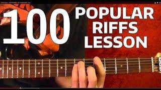 Rock Riffs Guitar Lesson - 100 BEST!! 🔷 Part 9 of 10