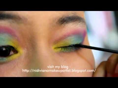Rainbow Merak Eyes Simple Make Up Youtube